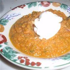 Yummy!!!  Alder Wood-Smoked Acorn Squash Soup Allrecipes.comr