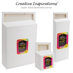 Creative Inspirations Super Value Stretched Canvas 5-Packs -- I could mount a print to the canvas