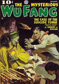 The Mysterious Wu Fang, Dec. 1935. Cover by Jerome Rozen.