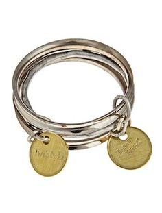 Twisted Silver | Celebrity Funky Jewelry - 3 bracelet