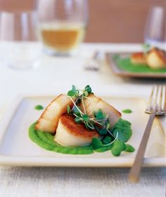 Recipe: Seared Scallops from Cooking for Two Yummy Food, Tasty, Cooking For Two, Cooking Fish, Wine Recipes, Food Inspiration, Love Food, Foodies, Healthy Eating