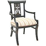 Carved Palm Tree Arm Chair