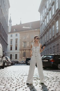 The Linen Jumpsuit: This staple embodies the ultimate combination of comfort, style and smart dressing. Wear it with flats and a denim jacket...