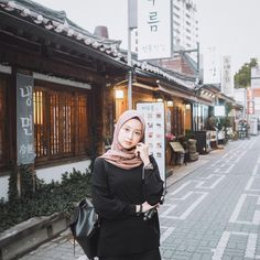Modest Fashion Hijab, Casual Hijab Outfit, Ootd Hijab, Girl Hijab, Fashion Outfits, Women's Fashion, College Fashion, Muslim Women, Simple Outfits