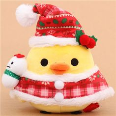 Rilakkuma yellow chick Santa Claus Xmas plush toy San-X Japan $24.57 http://thingsfromjapan.net/rilakkuma-yellow-chick-santa-claus-xmas-plush-toy-san-x-japan/ #rilakkuma plush #san x  products #kawaii Japanese sstuff #kiiroitori