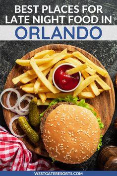 Best Vacation Spots, Family Vacation Destinations, Vacation Villas, Restaurants In Orlando, Orlando Resorts, Late Night Food, Eating At Night, Hotels Near Disney, Visit Orlando