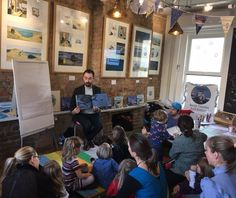 Benji Davies came to read us The Storm Whale in Winter at Storytime Sunday, a special visit for his new exhibition. Exhibition Display, Frame Display, Latest Books, Book Pages, Story Time, Whale, Original Artwork, Sunday, The Originals