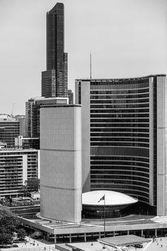 Toronto City Hall http://mabrycampbell.com #image #photo #photography #toronto #canada #cityhall #architecture #mabrycampbell #ontario #government #blackandwhite