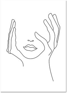 Face Outline, Outline Art, Outline Drawings, Pencil Art Drawings, Art Sketches, Line Art Design, Abstract Face Art, Abstract Lines, Simple Art