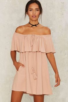 Nasty Gal Isla Off-the-Shoulder Dress | Shop Clothes at Nasty Gal!