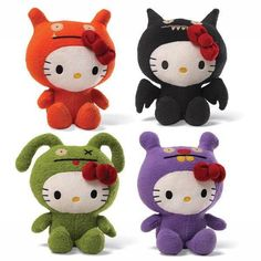 Hello Kitty Dressed Up in Ugly Doll Costumes