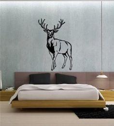Amazon.com: Wall Decor Vinyl Sticker Mural Kids Room Wild Animals Deer Buck Elk Hunting A12: Home & Kitchen