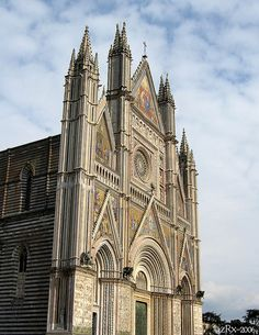 Orvieto Cathedral, Italy erected between 1290 and 1330 designed by architect Lorenzo Maitani