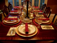 table scapes with spode christmas | Christmas Tablescape | Amanda Jane Brown