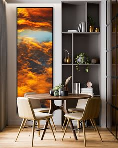 Beautiful colourful vertical panoramic artwork of beautiful sunset clouds. Our selection of beautiful art papers and canvas gives you endless choices. Stretched Canvas, Framed and Mounted options arrive ready to hang. The perfect print to suit contemporary or modern decor schemes. The ideal art print for abstract and panoramic art lovers.