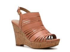 Franco Sarto Sharp Wedge Sandal | $59.95 With the chunky wedge and the neutral hue, these will be your go-to shoes in spring and summer. via @stylelist