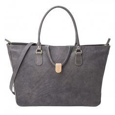 Vodivi Argentella Luxury Italian Leather Tote Bag, Gray ASV02 £557.00