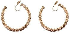 Amazon.com: Miyabi Grace Women's Elegant Gold Big Textured Invisible Spiral Clip On Hoop Earrings Comfortable Non Pierced Earrings Pierced Look: Clothing Pierced Earrings, Clip On Earrings, Hoop Earrings, Have Metal, Spiral, Amazon, Elegant, Big, Clothing