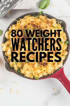 If you're on the Weight Watchers diet there are HEAPS of delicious Weight Watchers meals you can enjoy as a compliment to your weight loss efforts. We've rounded up 80 of our favorite Weight Watchers recipes with points / smartpoints with delicious opti Weight Watcher Dinners, Plats Weight Watchers, Weight Watchers Meal Plans, Weight Watchers Smart Points, Weight Watchers Diet, Weight Loss Meals, Recipes For Weight Loss, Weight Watchers Recipes With Smartpoints, Ww Recipes