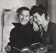 Marc Chagall and His Daughter Ida, New York, 1945