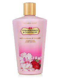 Hidratante Victorias Secret Hydrating Body Lotion Strawberries And Champagne Secret Lotion Victoria Secret, Victoria Secret Perfume, Victoria Secret Fragrances, Victoria Secrets, Victoria's Secret Body, Victorias Secret Cremas, Strawberry Champagne, Body Lotions, Body Care