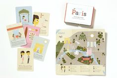 Paris Kids Travel Guide by Zig Zag. Meet Zig and Zag, two characters that will guide your child through Paris. Young travelers won't miss a beat with a map of the city, thirty city cards filled with fun facts and activities, and a box to hold them in. They'll learn local history, reflect on what they experience, draw what they see, and take a quiz about Paris, just to keep them on their toes.