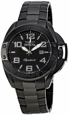 Invicta Signature II Black Dial Black Ion-plated Stainless Steel Mens Watch 7332 Invicta. $69.00. second-hand. Date. Water Resistance : 5 ATM / 50 meters / 165 feet. Water Resistant up to 100 m. luminous