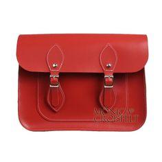 Bolsa Croisfelt Satchel Feminina II, Carteiro Cor Telha Amarronsada Avermelhada 11'' Linda para quem ama o estilo retro vintage! #fashion #moda