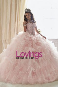 2016 Sweetheart Quinceanera Dresses Ball Gown Organza Court Train Detachable