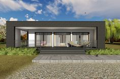 This modern design floor plan is 681 sq ft and has 1 bedrooms and has 1 bathrooms. Front Elevation, Tiny Living, Square Feet, House Plans, Modern Design, Floor Plans, Exterior, House Design, Baths