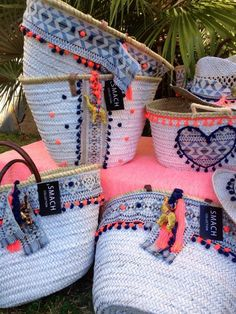 Tante Idee per Borse – Bags My Bags, Purses And Bags, Sacs Design, Diy Sac, Ethnic Bag, Ibiza Fashion, Boho Bags, Basket Bag, Summer Bags
