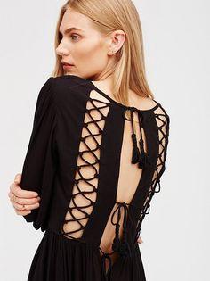 Maritza Veer    FP ENDLESS SUMMER Wednesday Lace-Up Back Maxi (Black)