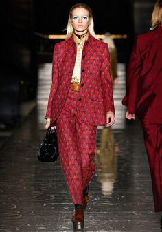 Miu Miu Fall 2012 red print suit