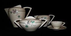 Eletro Cerâmica do Candal Vintage Pottery, Vintage Tea, Earthenware, Stoneware, Art Deco, Coffee Set, Chocolate Pots, Cup And Saucer, Tea Time