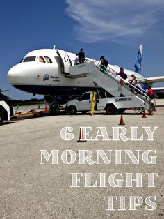 Have an early morning flight to Walt Disney World? Good tips here to make it a little easier!