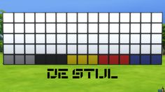 De Stijl Wall Panels Blocks (Bottom) #9 for #TheSims4  http://www.simsnetwork.com/downloads/the-sims-4/build/de-stijl-wall-panels-blocks-bottom-9