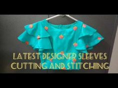 Designer Sleeves Cutting and Stitching/ Easy and Simple Method Sleeves Designs For Dresses, Blouse Neck Designs, Sleeve Designs, Kids Frocks Design, Stitching Dresses, Kurta Neck Design, Designer Blouse Patterns, Designer Dresses, Techniques Couture