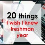 Here is a list of 20 things I wish I knew freshman year: 1. Go out on random weeknights A couple years from now, going out on a Tuesday will no longer be an option. Make sure you head to the library right after class instead of procrastinating so you're...