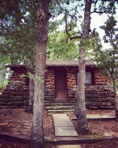 The very definition of National Park Service Rustic! Cabin at Bastrop State Park…