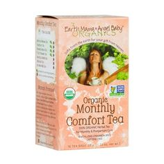 Formulated especially for women, with a Cinnamon delicious combination of nutrient rich, 100% organic herbs, Organic Monthly Comfort Tea blends astringent Lady's Mantle with balancing Lemon Balm, mineral rich Nettles and Alfalfa, and rejuvenating Ginger to help ease cramping. Organic Herbal Tea, Organic Herbs, Baby Tea, Earth Mama, Lemon Balm, Brewing Tea, Tea Blends, Mantle, Biodegradable Products