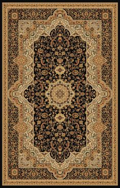 Authentic Traditional Persian Rug In Black 2' ft. x 3' ft. ($31.99USD), Area Rug - Rug Addiction, Rug Addiction