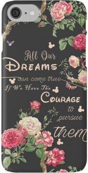 All Our Dreams Can Come True Mickey Quote Of the Day  iPhone 7 Cases
