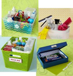 It's Written on the Wall: Create Organizing Kits + Tips for Organizing Kitchen, Mud Room, Closets, Office, + Using Labels and Baskets to Organize Kitchen Organization, Storage Organization, Diy Storage, Storage Ideas, Staff Gifts, Ideas Para Organizar, Organizing Your Home, Organizing Ideas, Organising
