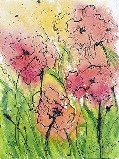 Art journal inspiration - Poppies by Tracee Murphy, via Flickr