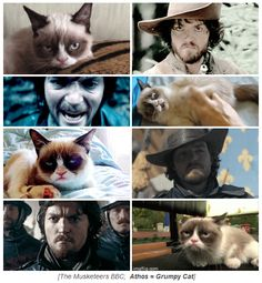 The Musketeers - Grumpy Cat = Athos <--- This wins the internet <3