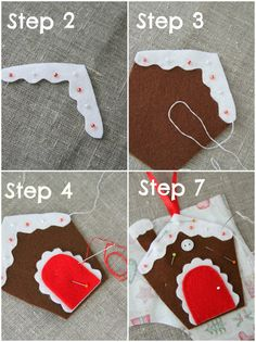 "Plushka's craft: ""Wonky Gingerbread house"" Christmas decoration DIY"