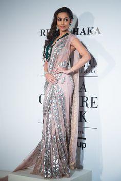 Rina Dhaka at India Couture Week 2014 - Malaika Arora in sari