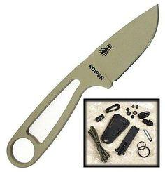 ESEE Desert Tan Survival Fixed Knife w/ Sheath Fire Starter IZULA-DT-KIT