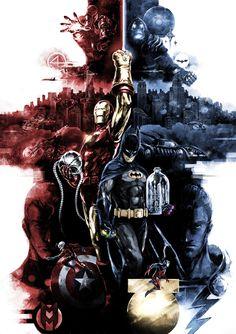 Batman & Iron Man by naratani