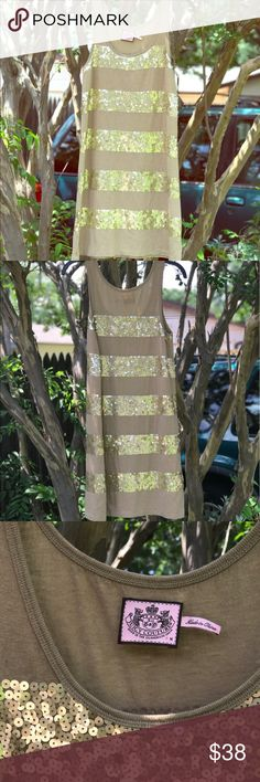 Juicy Couture summery party sequin dress size M This dress is form fitting but not tight and it is true fit size Medium. No signs of wear either so no need to worry about looking stylish for less this summer Juicy Couture Dresses Mini